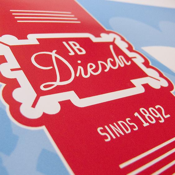 Het label-logo van JB Diesch