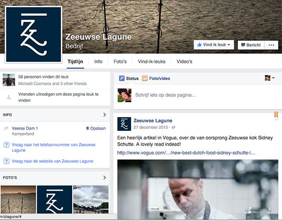De profielfoto's op sociale platforms hebben vaste verhoudingen. Dit is de logo-versie voor de Facebook-pagina van de Zeeuwse Lagune.