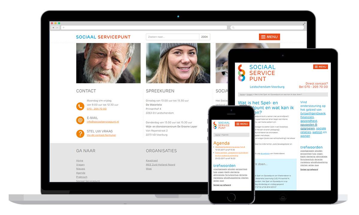 De website met een kennisdatabase met antwoorden op heel veel hulpvragen