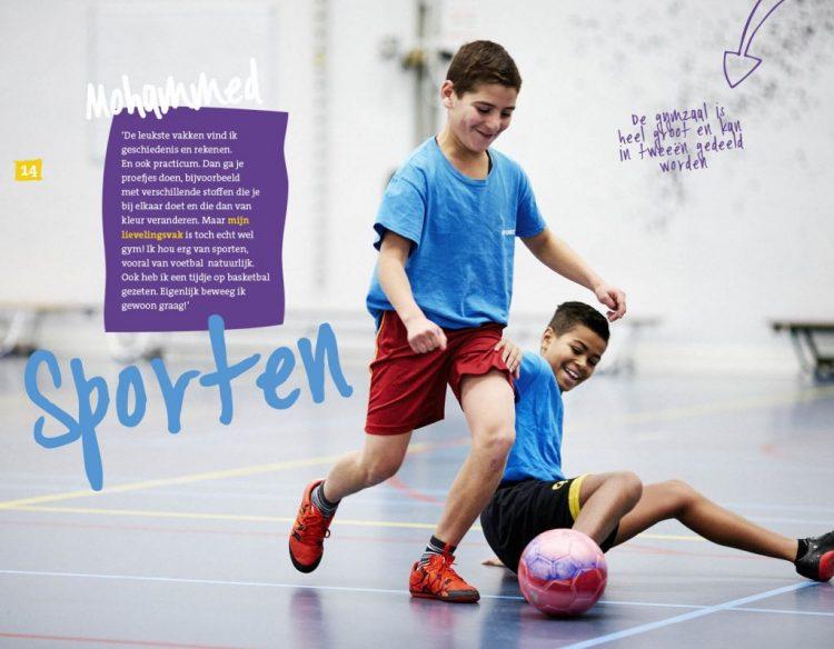 Pagina uit de brochure van het Scheldemond College